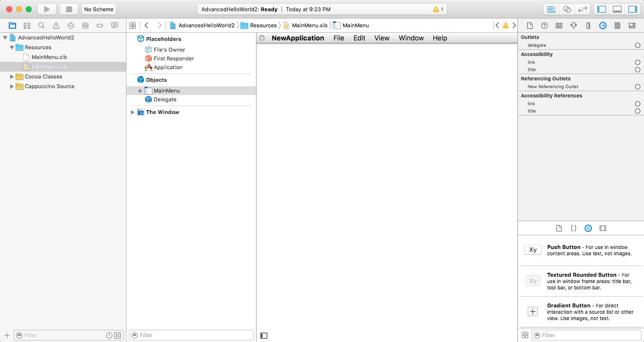Cappuccino - Tutorial: Xcode Interface Builder